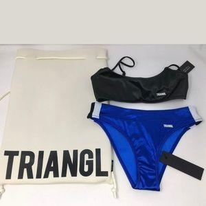 Triangl Noir 2 piece bikini set